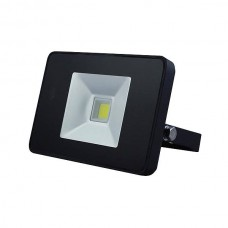FR_LED FLOOD LIGHT 10W MET BEWEGINGSMELDER ZWART, NEUTRAALWIT