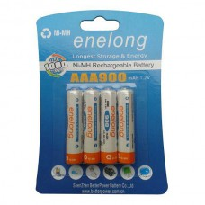 ENELONG BATTERIE RECHARGEABLE NiMH READY TO USE 4 x AAA 900MAH BLISTER